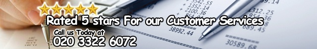 Rated 5 stars for our Customer Services Call Us Today at 020 3322 6072
